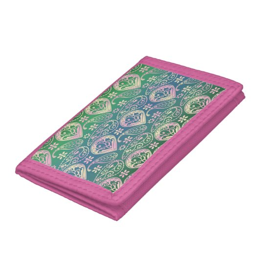 Multi Coloured Paisley Tri-fold Wallet