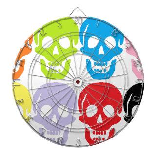 multi coloured skulls dartboard