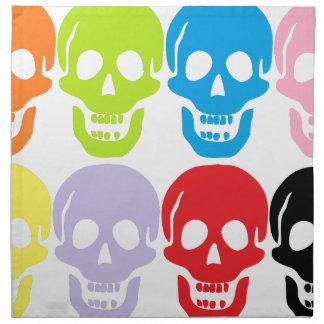 multi coloured skulls napkin