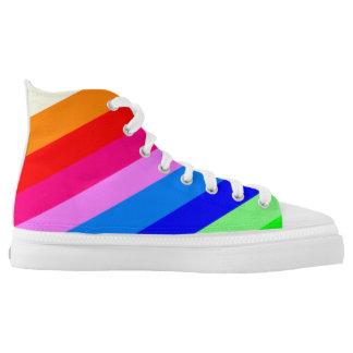 Multi coloured snickers printed shoes