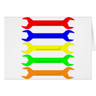 Multi-Coloured Spanners Greeting Card