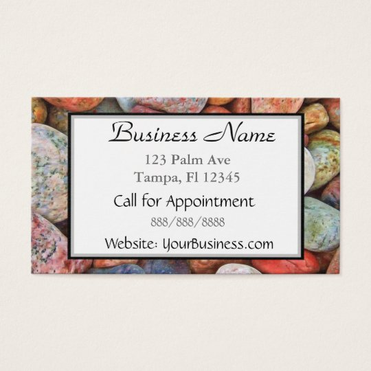 Multi Coloured Stones Business Card