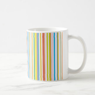 Multi Coloured Stripes Coffee Mug