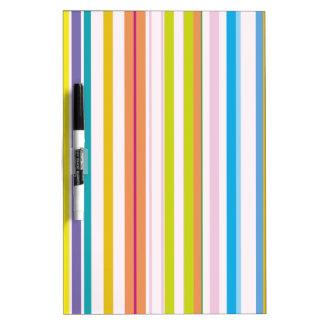 Multi Coloured Stripes Dry Erase Board