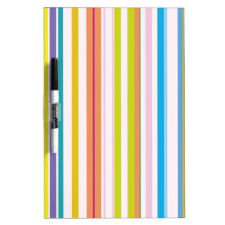 Multi Coloured Stripes Dry Erase White Board