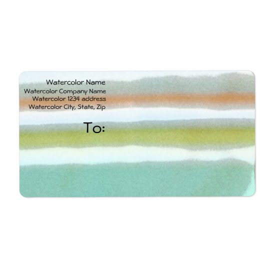 Multi-coloured stripes, film grain, watercolor shipping label
