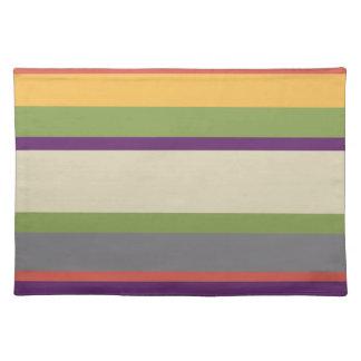 Multi-coloured stripes Four Placemat