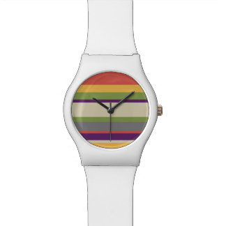Multi-coloured stripes Four Watches