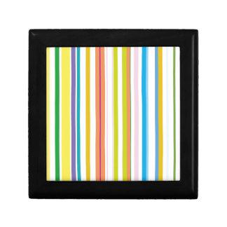 Multi Coloured Stripes Gift Box