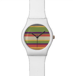 Multi-coloured stripes One Watches