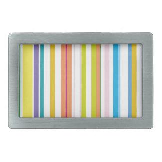 Multi Coloured Stripes Rectangular Belt Buckles