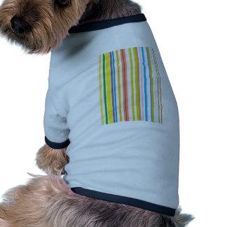 Multi Coloured Stripes Ringer Dog Shirt