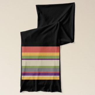 Multi-coloured stripes scarf