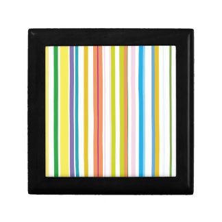 Multi Coloured Stripes Small Square Gift Box