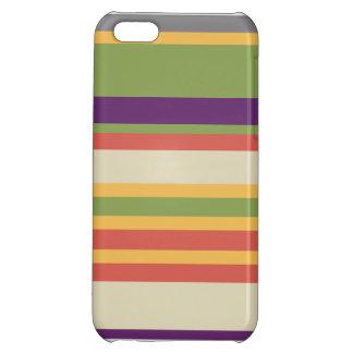Multi-coloured stripes Three Case For iPhone 5C