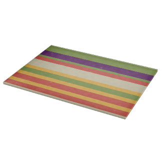 Multi-coloured stripes Three Cutting Board