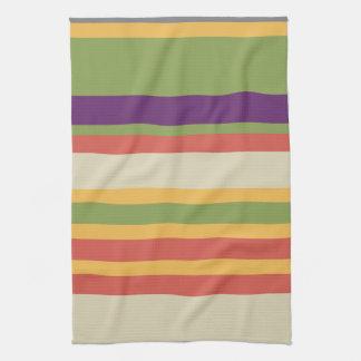 Multi-coloured stripes Three Tea Towel