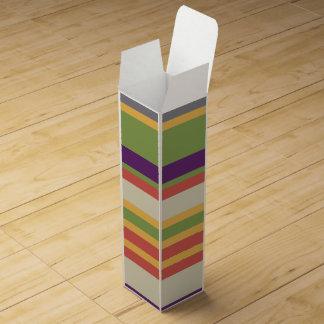 Multi-coloured stripes Three Wine Gift Box