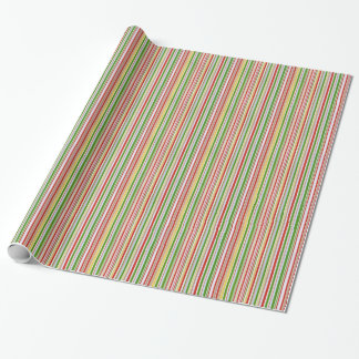 Multi Coloured Stripes Wrapping Paper