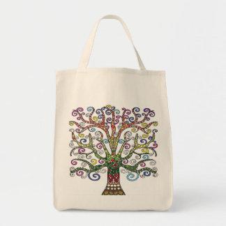 Multi-Coloured Tree Tote Bag
