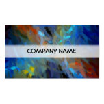 Multi Colours Abstract Art Painting Pack Of Standard Business Cards