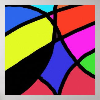 multi colours print