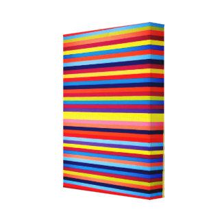 multi- colours stripe art canvas print