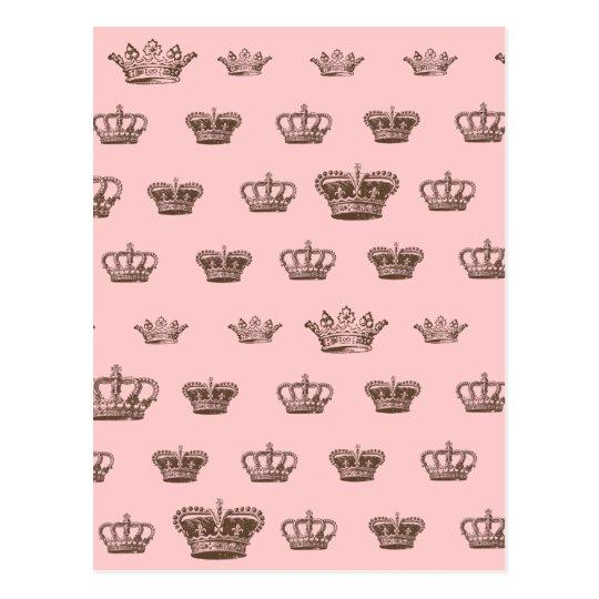 Multi Crown design - choose bkgd colour Postcard