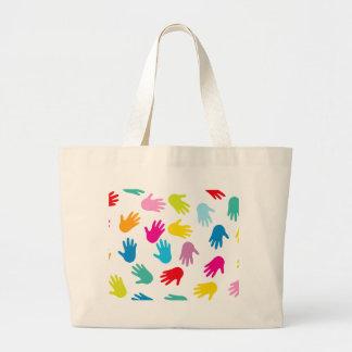 Multi Cultural Colorful Hands Jumbo Tote Bag