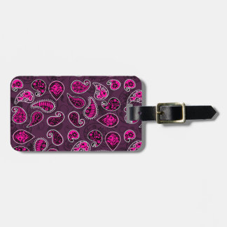 Multi Dimensional Paisley Pattern In Pink Luggage Tag