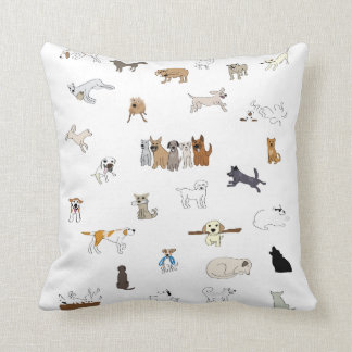 Multi-Dogs - Throw Pillow