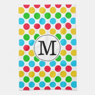 Multi Dot Custom Monogrammed Golf Colorful Towel
