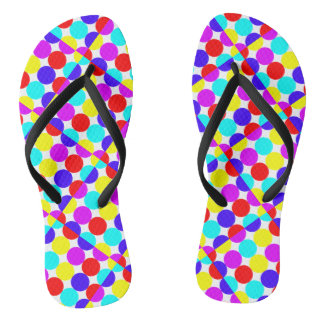 MULTI-DOTS - DOT THIS! ~.png Flip Flops
