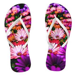 Multi flower flip flops