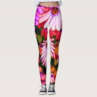 Multi flower leggings