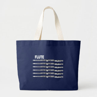 Multi Flutes Large Tote Bag