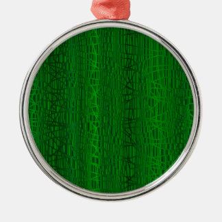 Multi Green Colour Background Christmas Ornament