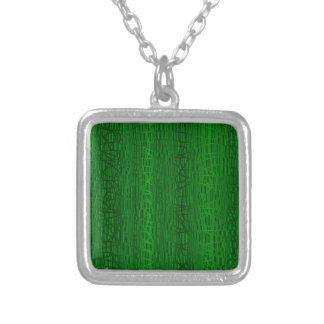 Multi Green Colour Background Silver Plated Necklace