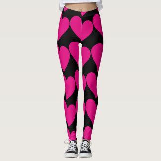 Multi heart leggings