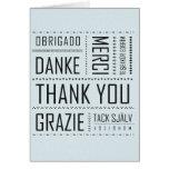 Multi-Language Thank You Card