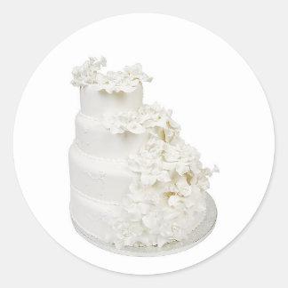 Multi Layer Wedding Cake Round Sticker