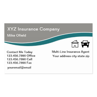 Multi-Line Insurance Agent Pack Of Standard Business Cards