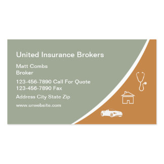 Multi Line Insurance Pack Of Standard Business Cards