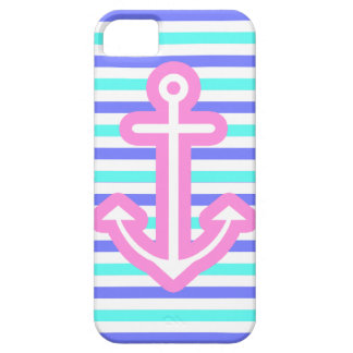 Multi Nautical Pink Anchor Barely There iPhone 5 Case