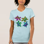 Multi Painted Turtles Apparel T Shirts