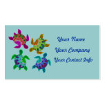 Multi Painted Turtles Business Card Template