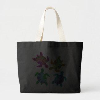 Multi Painted Turtles Dark Bags
