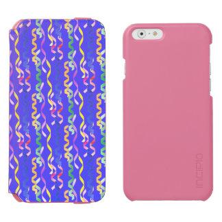 Multi Party Streamers on Neon Blue Incipio Watson™ iPhone 6 Wallet Case