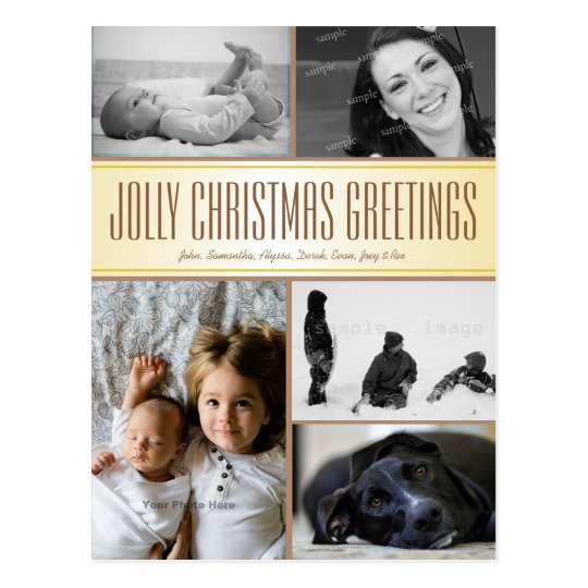 Multi-Photo Christmas Postcard Greeting