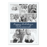 Multi Photo Collage Holiday Photocard - Navy /Blue 5x7 Paper Invitation Card